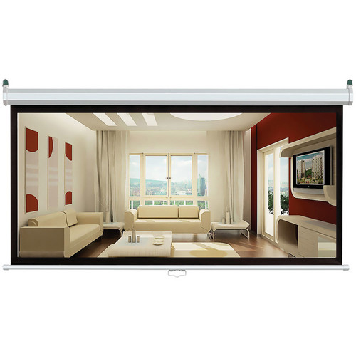 """Pyle Home PRJS1680 Manual Projection  Screen (39 x 69"""")"""
