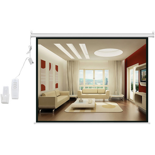 "Pyle Home PRJSER1410 Motorized Projection Screen with Wireless Remote (60 x 80"", 110V, 60 Hz)"
