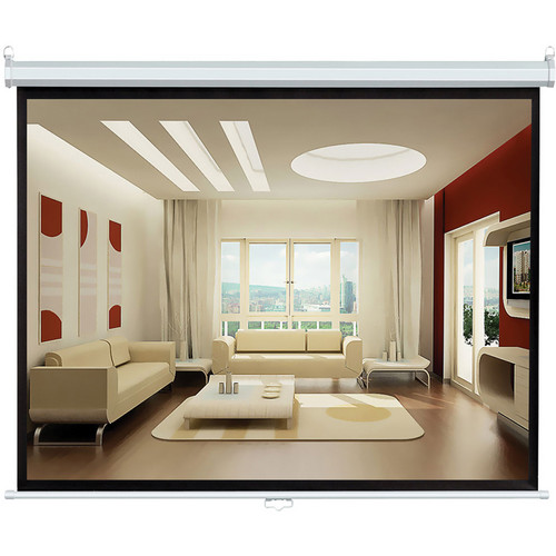 "Pyle Home PRJSL72 Manual Projection Self-Locking Screen (43 x 57"")"