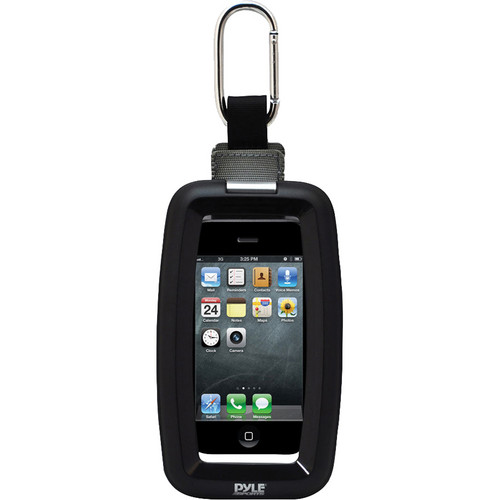 Pyle Home Ultimate Protection Waterproof Universal Sport Case With Carabiner Clip (Black)