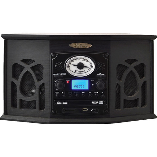 Pyle Home Retro Vintage Turntable System (Black)