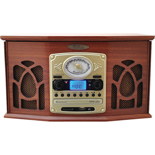 Pyle Home Retro Vintage Turntable System (Wood)