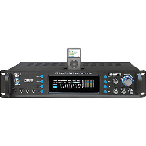 Pyle Pro P1002AI AM/FM Receiver Amplifier with iPod Dock
