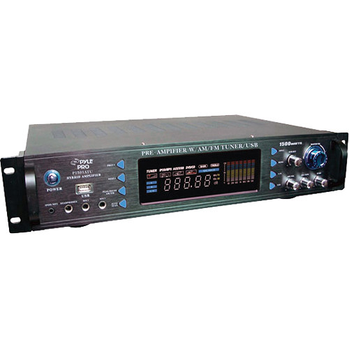 Pyle Pro P1501 ATU 1500W Hybrid Preamplifier with AM/FM Tuner and USB