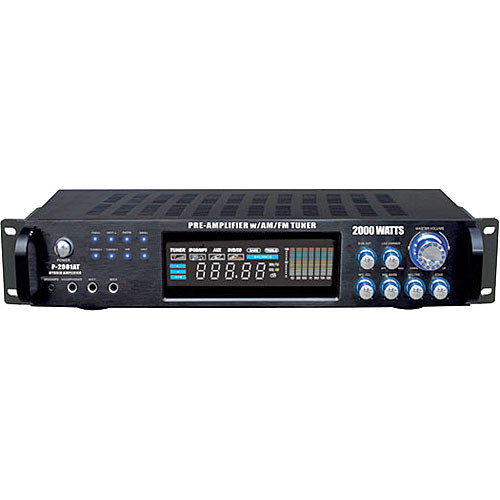 Pyle Pro P2001AT 2000W Hybrid Pre-Amplifier with AM/FM Tuner