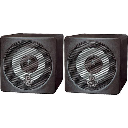 """Pyle Pro PCB3 100W 3"""" Mini Cube Speaker (Pair, Black)"""