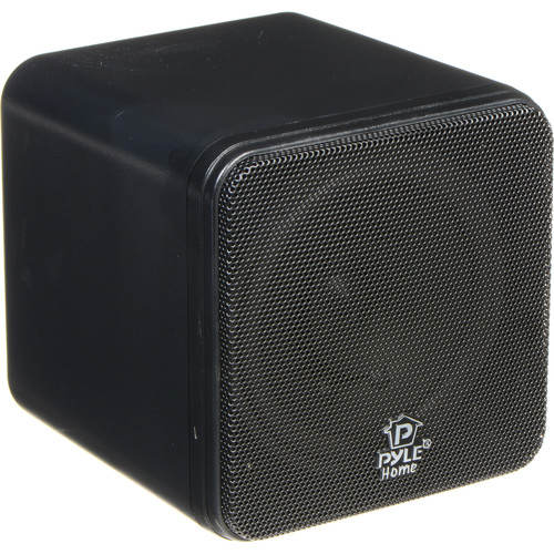 "Pyle Pro PCB4 200W 4"" Mini Cube Speaker (Pair, Black)"