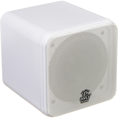 "Pyle Pro PCB4 200W 4"" Mini Cube Speaker (Pair, White)"