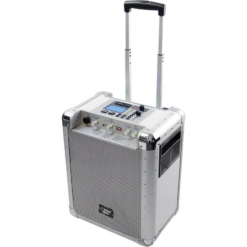 Pyle Pro PCMX265W Battery Powered Portable PA System (White)