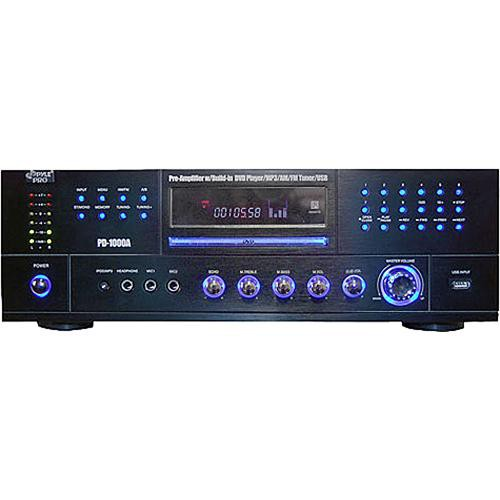 Pyle Home PD1000A  1000W AM/FM Receiver with DVD/MP3/USB Player