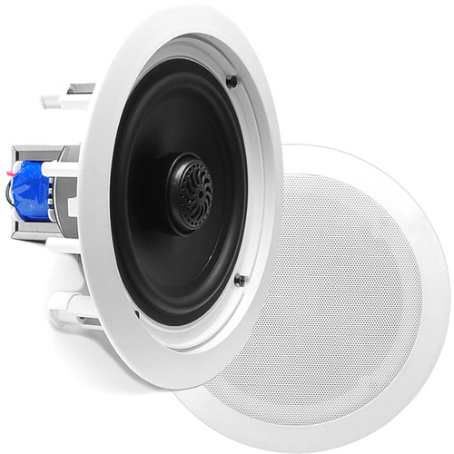 "Pyle Pro PDIC80T 8"" Two-Way In-Ceiling Speaker System with Transformer (Pair)"