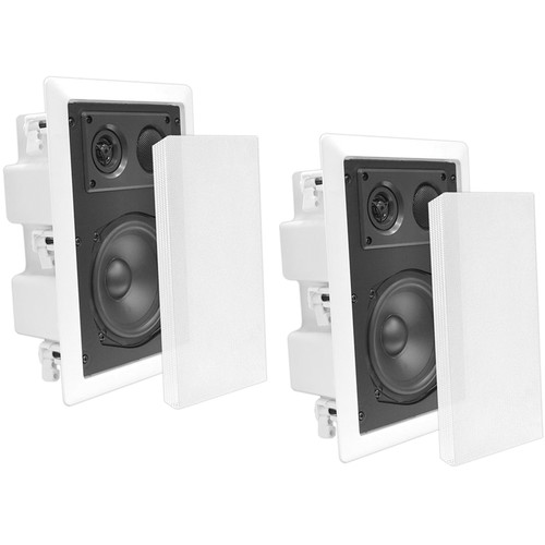 "Pyle Pro PDIW87 8"" 2-Way In-Wall Enclosed Speaker with Directional Tweeter (Pair)"