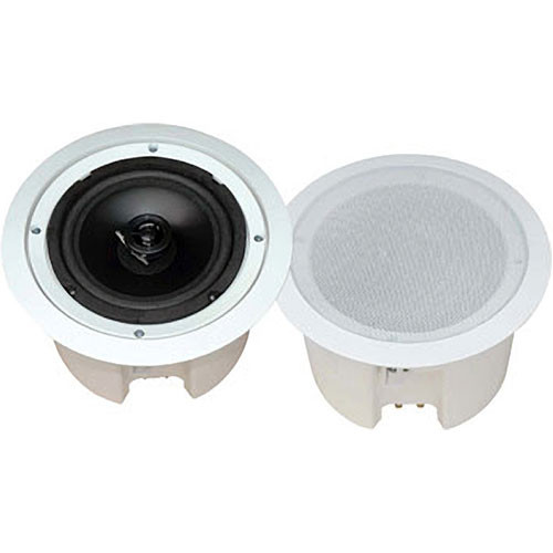 "Pyle Pro PDPC82 8"" 2-Way Round Enclosed In-Ceiling Speaker (Pair)"