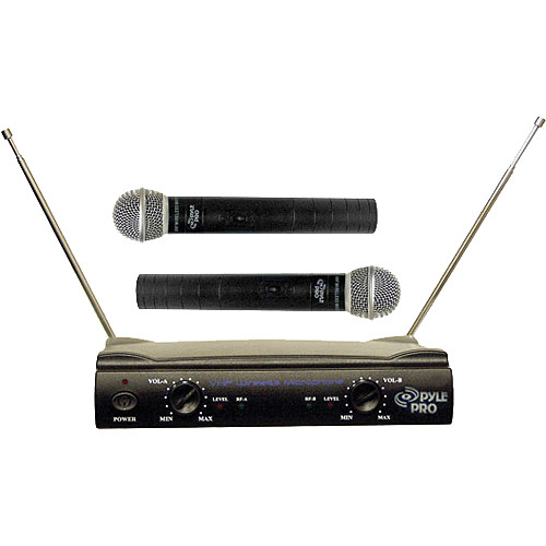 Pyle Pro PDWM2500 Dual VHF Wireless Microphone System