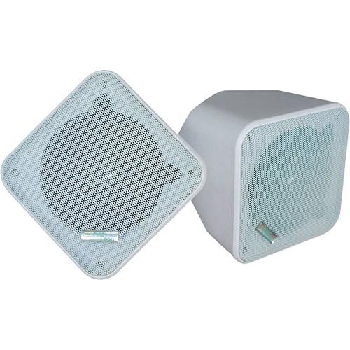"Pyle Pro PDWP5 5"" Weatherproof Full-Range Speakers (White, Pair)"