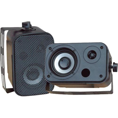 """Pyle Pro PDWR30B 3.5"""" Indoor/Outdoor 300W Speaker Pair (Black)"""
