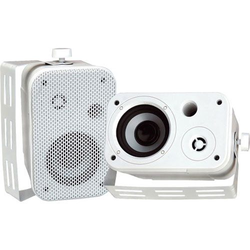 "Pyle Pro PDWR30W 3.5"" Indoor/Outdoor 300W Speaker Pair (White)"