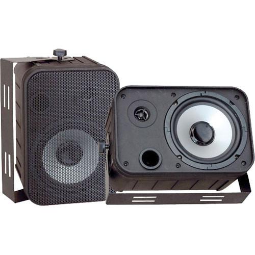 """Pyle Pro PDWR50B 6.5"""" Indoor-Outdoor Waterproof Speakers (Black)"""