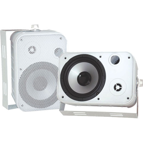 "Pyle Pro PDWR50W 6.5"" Indoor-Outdoor Waterproof Speakers (White)"