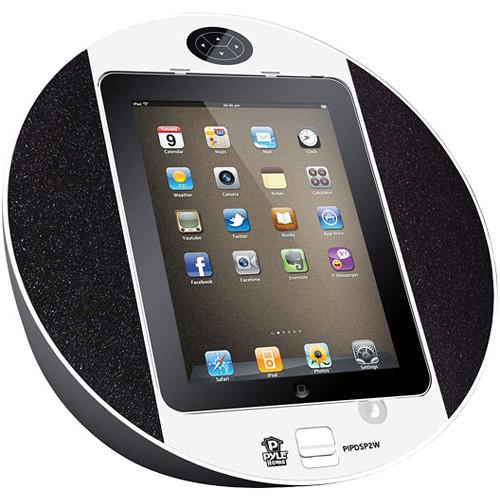 Pyle Pro iPod/iPhone/iPad Touch Screen Dock with FM Radio & Alarm (White)