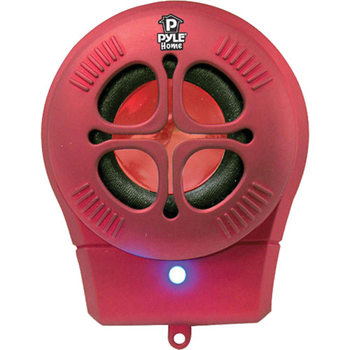 Pyle Pro Bass Expanding Chainable Rechargeable Mini-Speaker (Red)