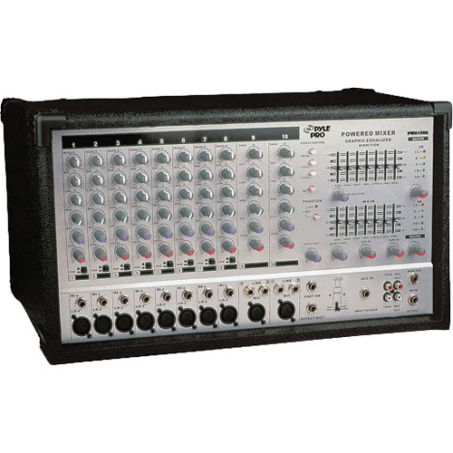 Pyle Pro PMX1006 10-Channel 800W Active Stereo Mixer