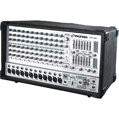 Pyle Pro PMX1206 12-Channel 1000W Active Stereo Mixer