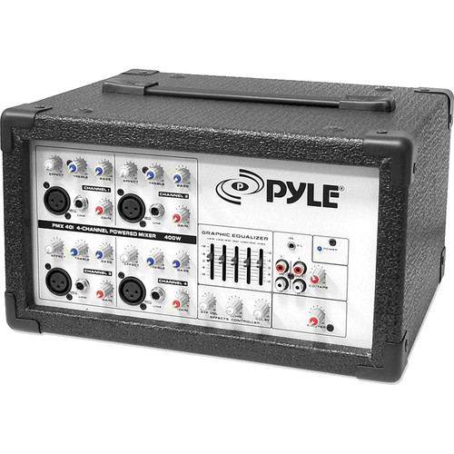 Pyle Pro PMX401 - 150 Watt 4-Channel Powered PA Mixer/Amplifier