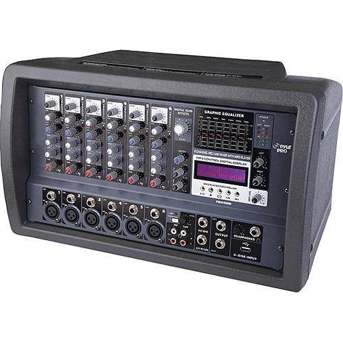 Pyle Pro PMX408M - 600 Watt 6-Channel Powered PA Mixer/Amplifier