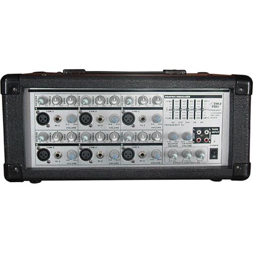 Pyle Pro PMX601 - 150 Watt 6-Channel Powered PA Mixer/Amplifier