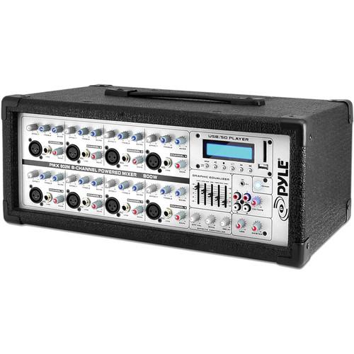 Pyle Pro PMX802M - 800 Watt 8-Channel Powered PA Mixer/Amplifier
