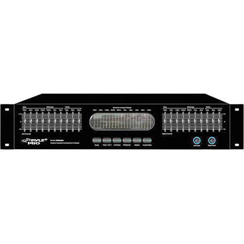 Pyle Pro PPEQ200 Dual Channel 20 Band Octave Graphic Equalizer