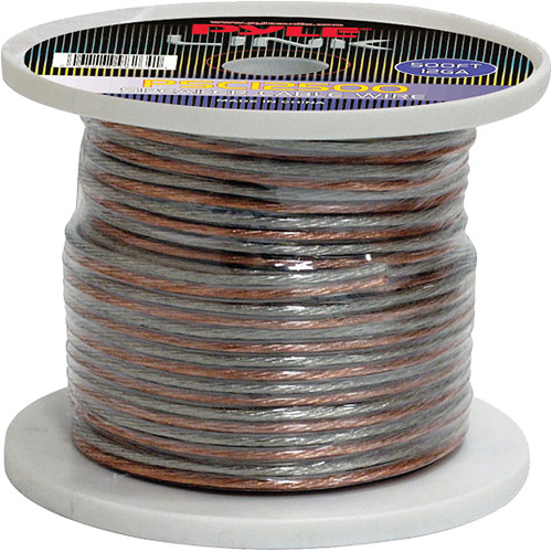 Pyle Pro PSC12500 12-Gauge High-Quality Speaker Zip Wire (500' Spool)