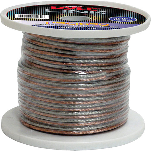 Pyle Pro PSC1650 16-Gauge High-Quality Speaker Zip Wire (50' Spool)