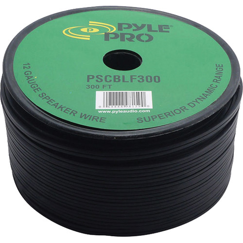 Pyle Pro PSCBLF300 12AWG Bulk Speaker Cable (300')