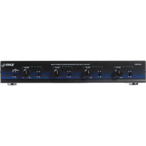 Pyle Pro PSPVC4 4-Channel High Power Speaker Selector