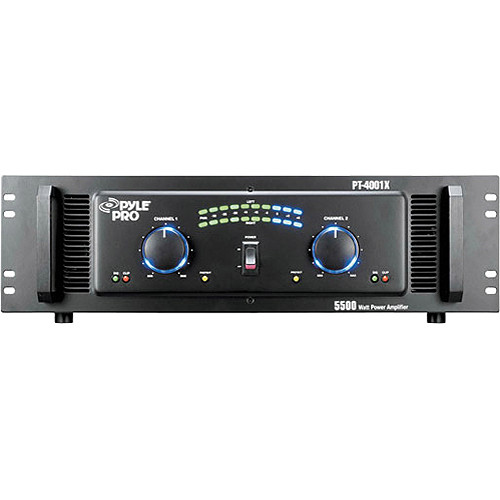 Pyle Pro PT-4001X Stereo DJ Power Amplifier (2750W/Channel @ 8 Ohms)