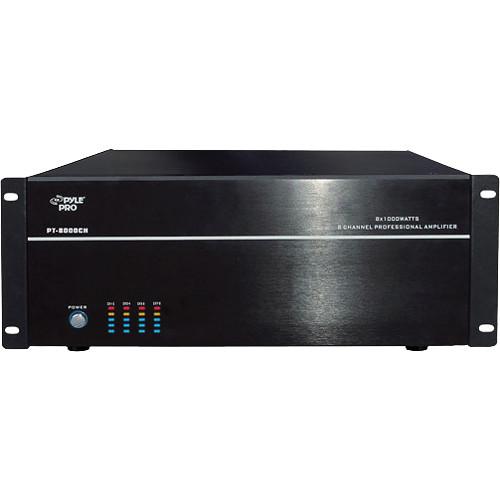 Pyle Pro PT8000CH 8-Channel Stereo/Mono Amplifier