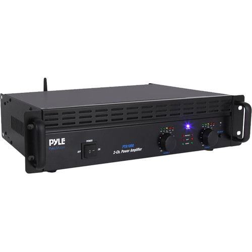 Pyle Pro PTA1000 Professional Stereo Power Amplifier (250W/Channel @ 8 Ohms)