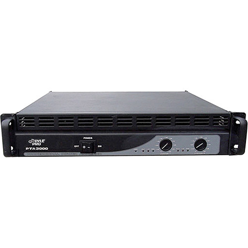 Pyle Pro PTA3000 Professional Stereo Power Amplifier (350W/Channel @ 8 Ohms)