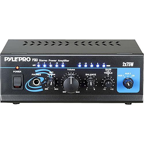 pyle pro pta3 150w stereo power amplifier pta3 b h photo video. Black Bedroom Furniture Sets. Home Design Ideas