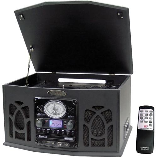 Pyle Pro VintageTurntable/AM/FM CD/CASSETTE/USB/SD