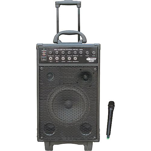 Pyle Pro PWMA1050 Portable PA System with Wireless Microphone