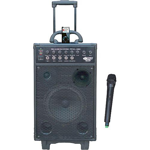 Pyle Pro PWMA1080i Portable PA System with iPod Dock & Wireless Microphone