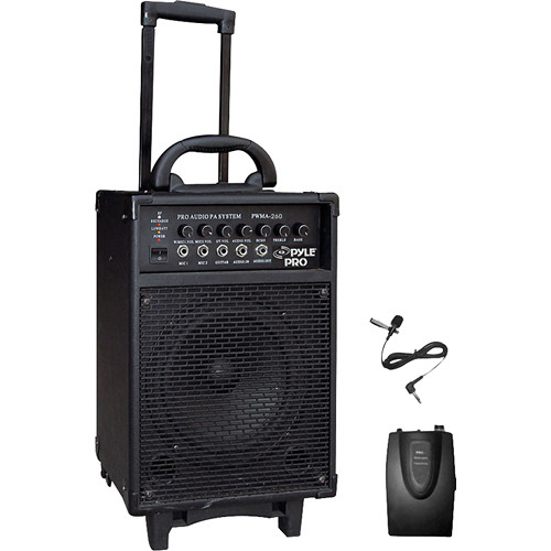 Pyle Pro PWMA260 300W Wireless Rechargeable Portable PA System