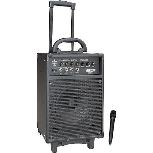 Pyle Pro PWMA330 300W VHF Wireless Battery Powered PA System