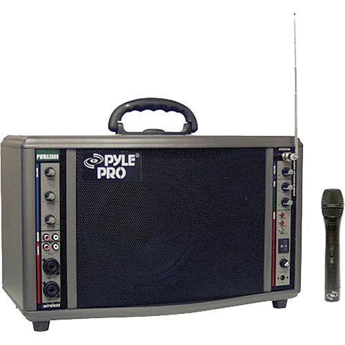 Pyle Pro PWMA3600 200W Portable PA System with Wireless Microphone