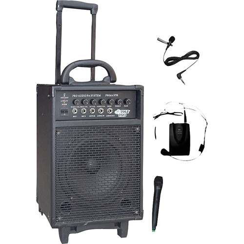 Pyle Pro PWMA370 300W Rechargeable Portable PA with Dual-Channel Wireless System