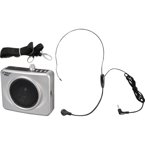Pyle Pro Waistband Portable PA System with USB Input (Silver)