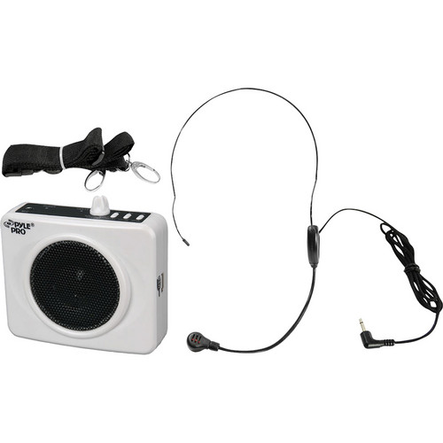 Pyle Pro Waistband Portable PA System with USB Input (White)